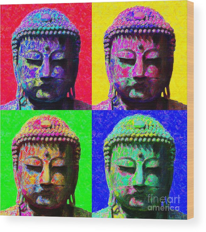 Religion Wood Print featuring the photograph Buddha Four 20130130 by Wingsdomain Art and Photography