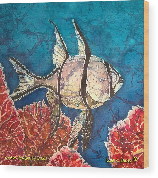 Cardinalfish Wood Print featuring the painting Cardinalfish by Sue Duda