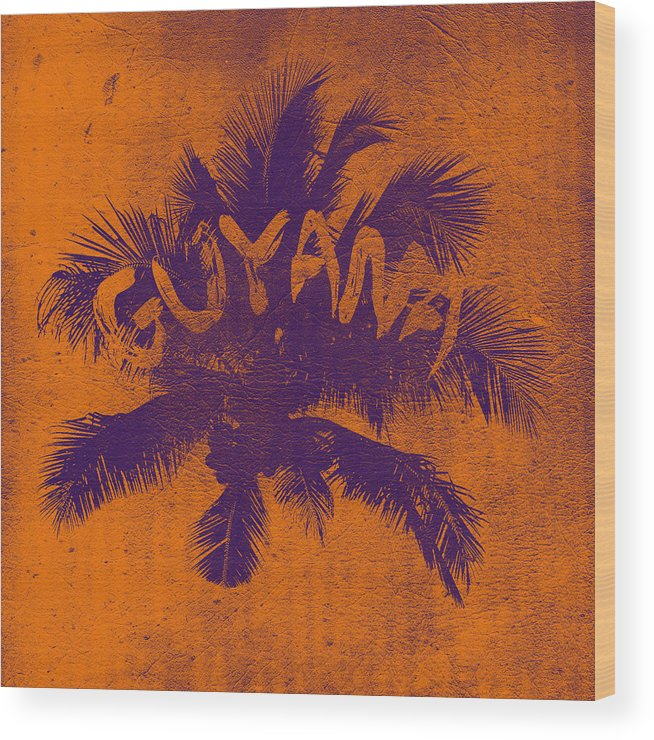 Guyana Wood Print featuring the digital art Coconut Tree by Mark Khan