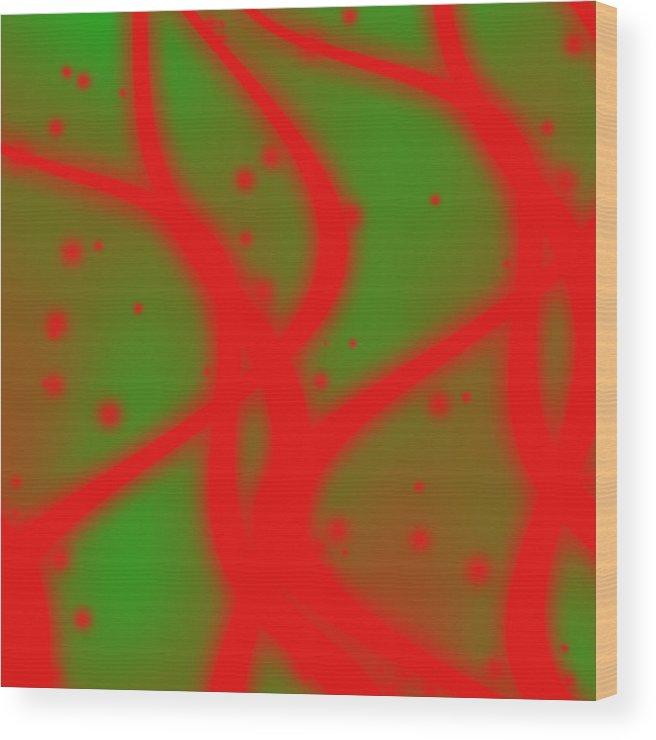 Cordillera 1 Wood Print featuring the digital art Cordillera 1 by Karl Jones