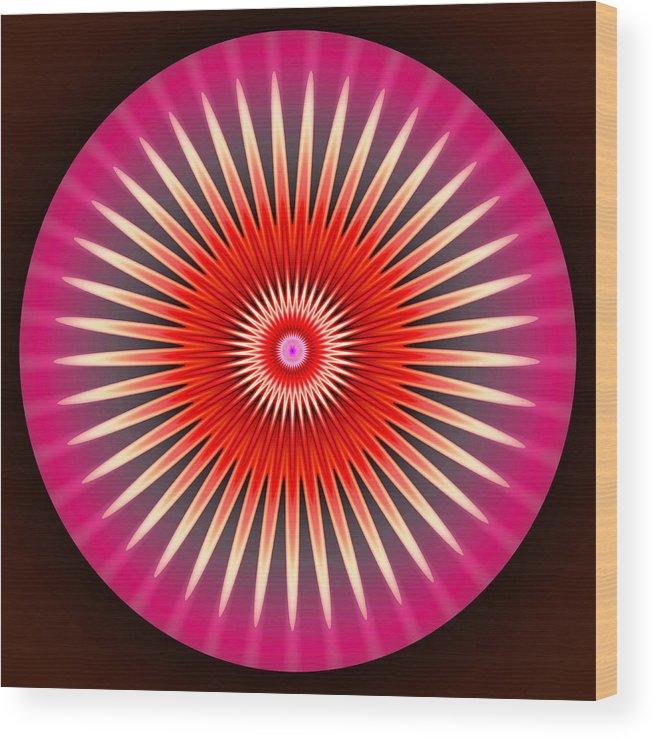 Art Wood Print featuring the digital art Daisy by Visual Artist Frank Bonilla