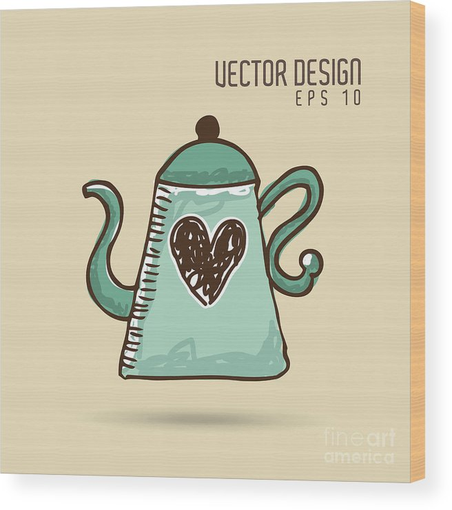 Container Wood Print featuring the digital art Delicious Coffee Design by Gst