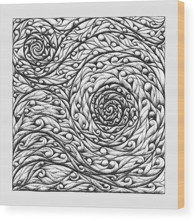 Doodle Wood Print featuring the drawing Doodle 12 by Sherri Odegaarden