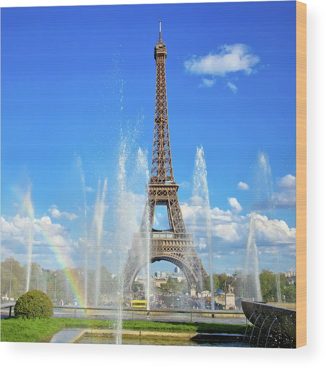 People Wood Print featuring the photograph Eiffel Tower - Paris, France by Nikada