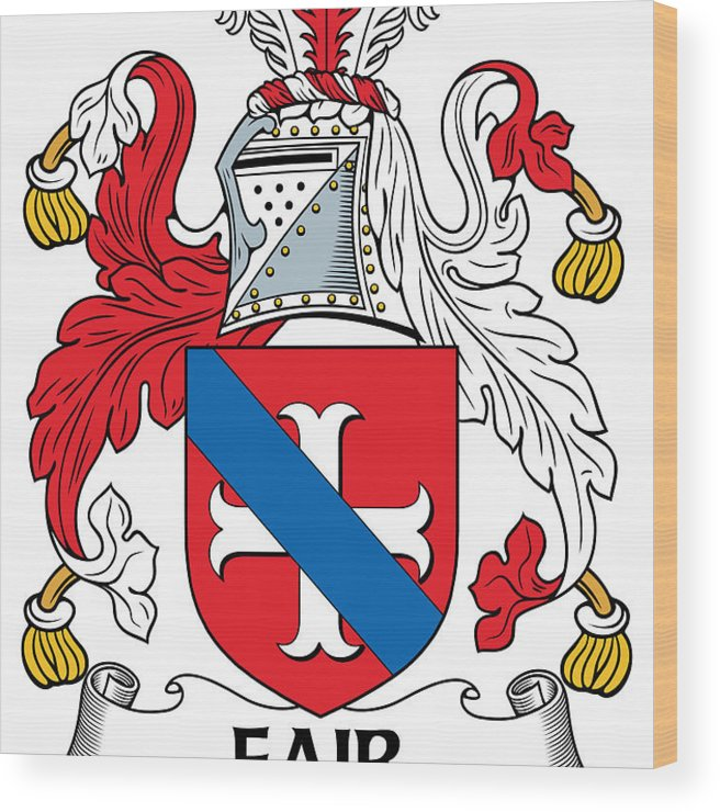 Fair Wood Print featuring the photograph Fair Coat Of Arms Irish by Heraldry