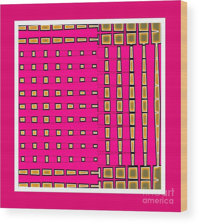 Fashionably Fuschia-s2 Wood Print featuring the digital art Fashionably Fuschia-s2 by Darla Wood