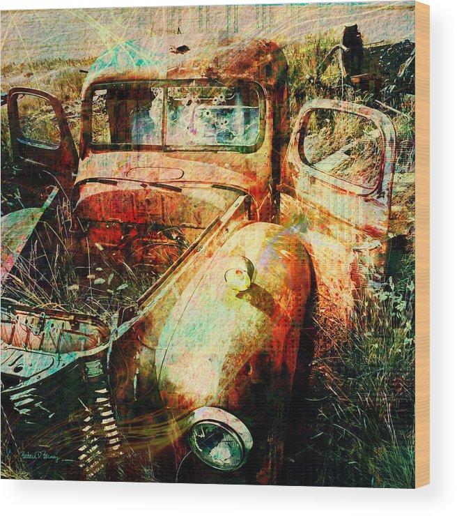 Forgotten Wood Print featuring the digital art Forgotten by Barbara Berney