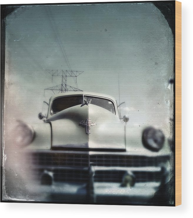 Car Wood Print featuring the photograph i got me a Chrysler it's as big as a whale by Tim Nyberg