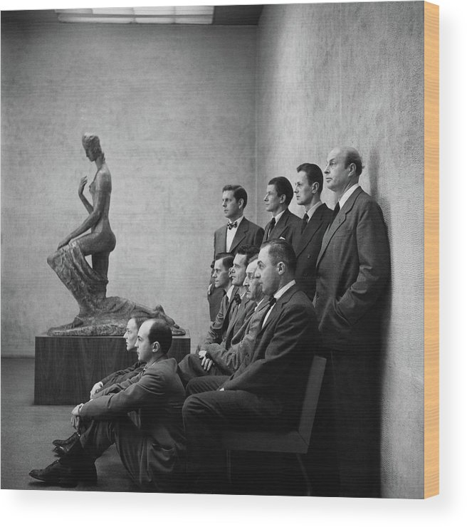 Art Wood Print featuring the photograph Interior Designers At Moma by Cecil Beaton