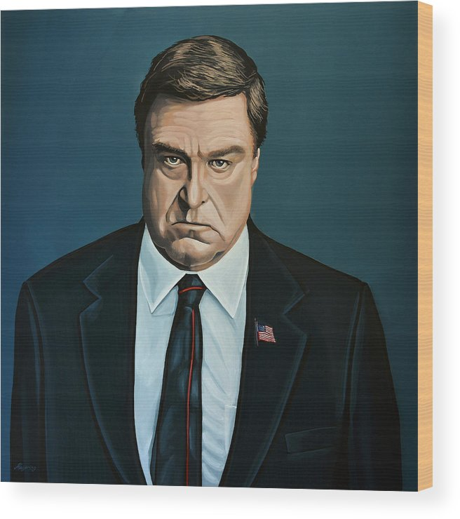 John Goodman Wood Print featuring the painting John Goodman by Paul Meijering