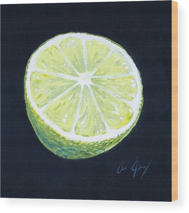 Lime Wood Print featuring the painting Lime by Aaron Spong