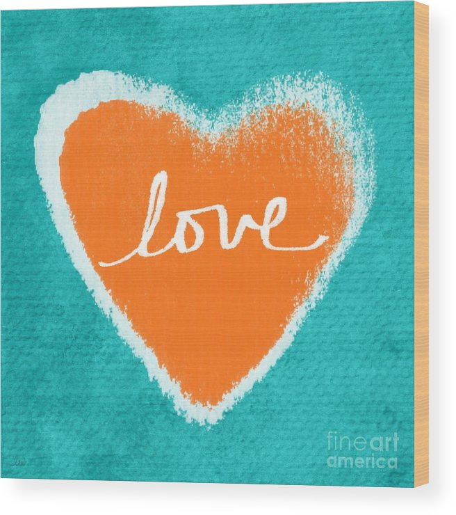Heart Wood Print featuring the mixed media Love by Linda Woods