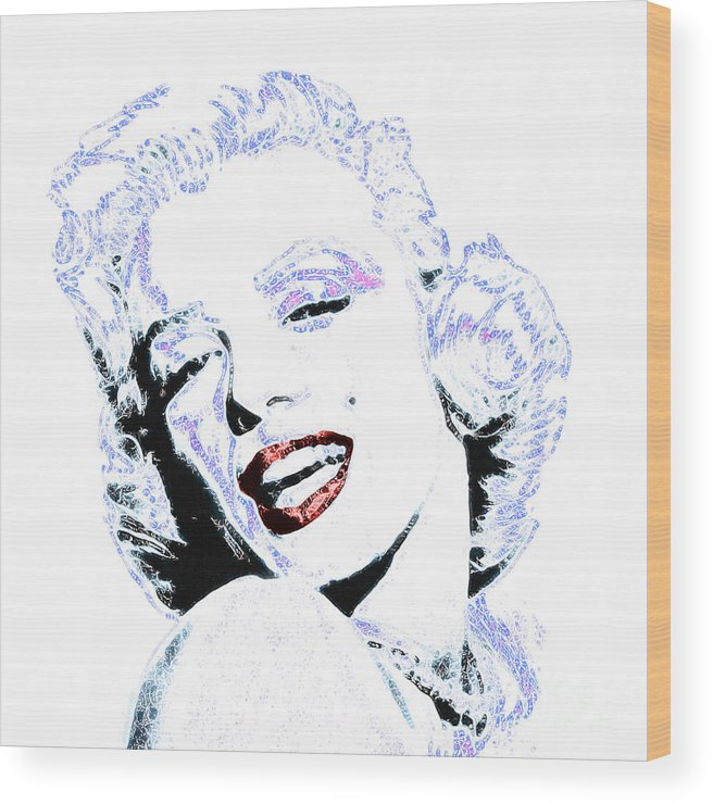 Marilyn Wood Print featuring the photograph Marilyn Monroe 20130331 Square by Wingsdomain Art and Photography