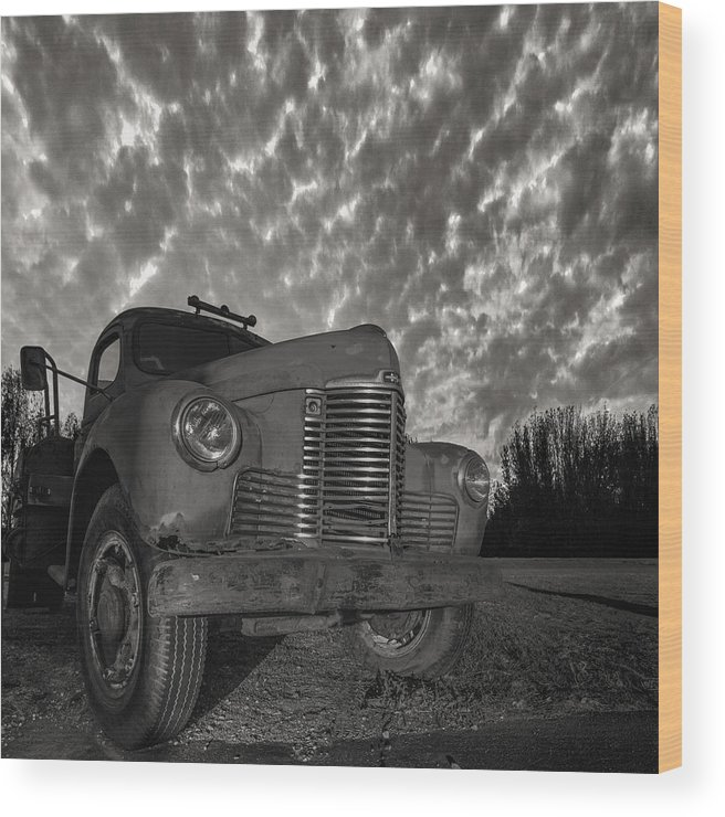 Truck Wood Print featuring the photograph Old Red by Aaron J Groen