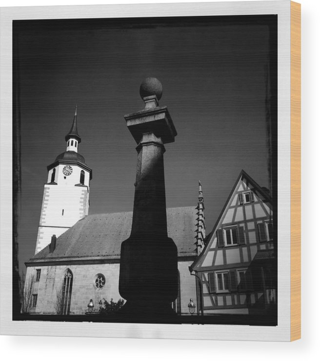 Church Wood Print featuring the photograph Old Town Waldenbuch In Germany by Matthias Hauser