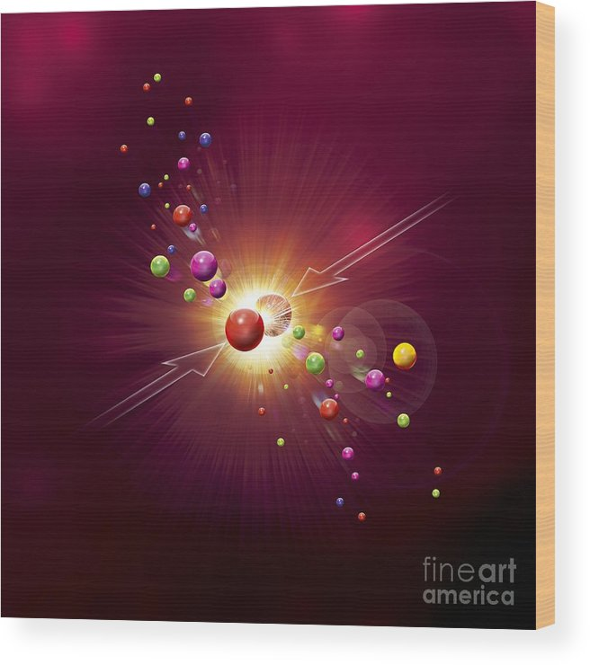 Cern Wood Print featuring the photograph Particle Collision, Artwork by Claus Lunau