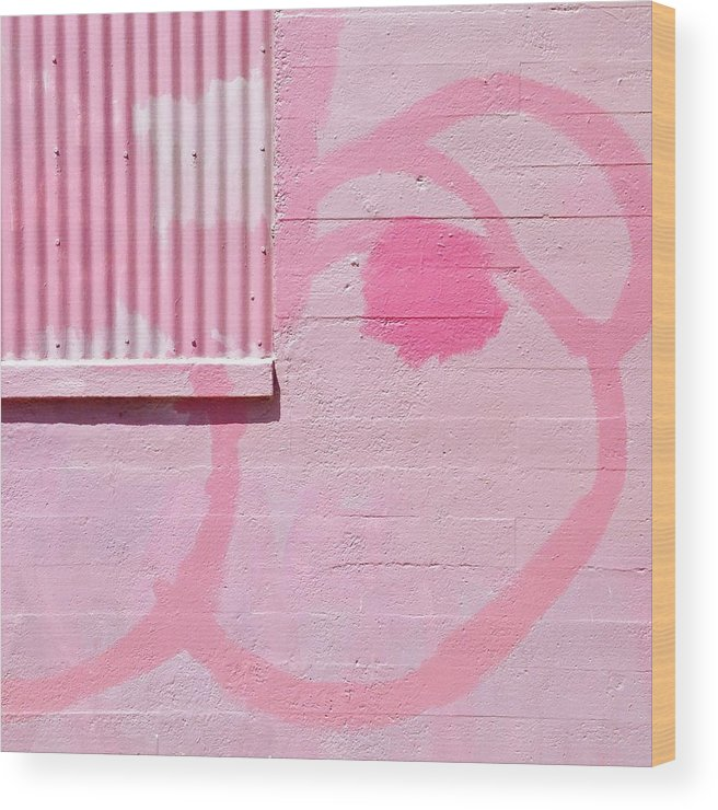 #pink #graffiti #wall #colorful Wood Print featuring the photograph Pink Detail by Julie Gebhardt