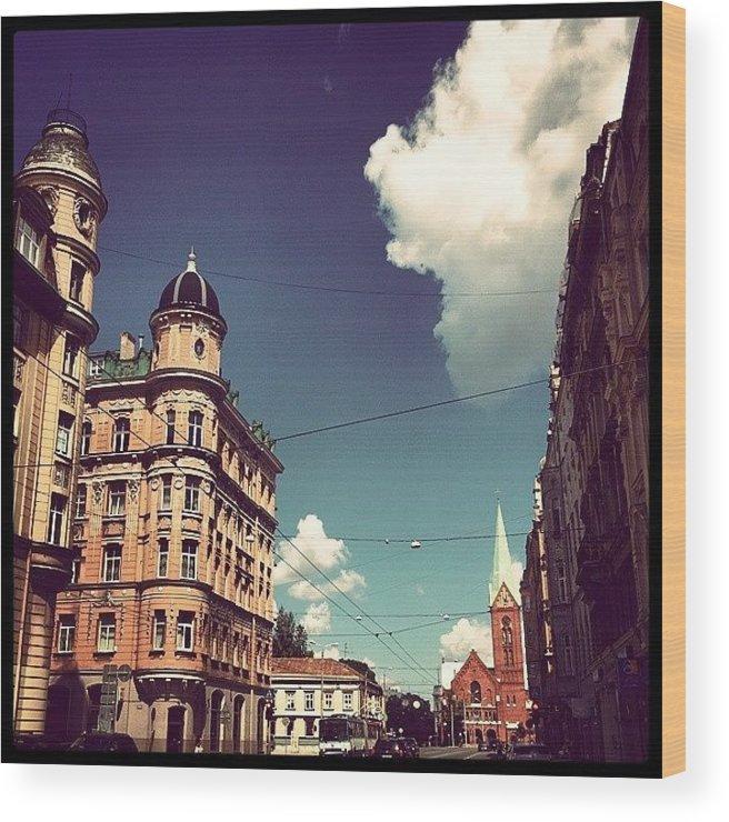 Beautiful Wood Print featuring the photograph Riga by Raimond Klavins
