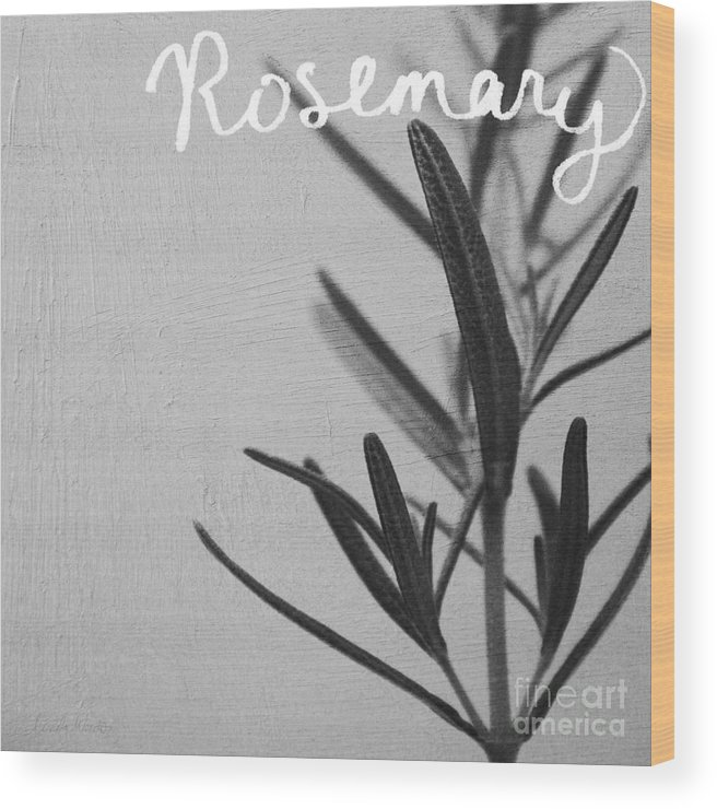 Rosemary Wood Print featuring the mixed media Rosemary by Linda Woods