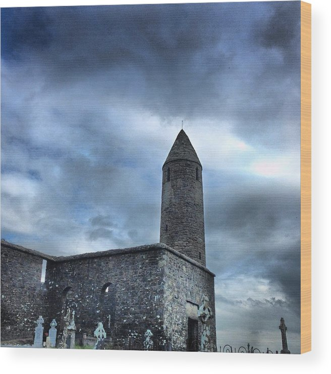 Old Wood Print featuring the photograph Round Tower Ireland by Ronan Courell