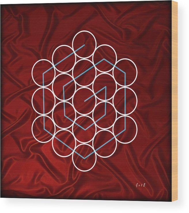 Illusion Of Sight Wood Print featuring the painting Spiral Of Evolution Expand Your Perception by Georgeta Blanaru