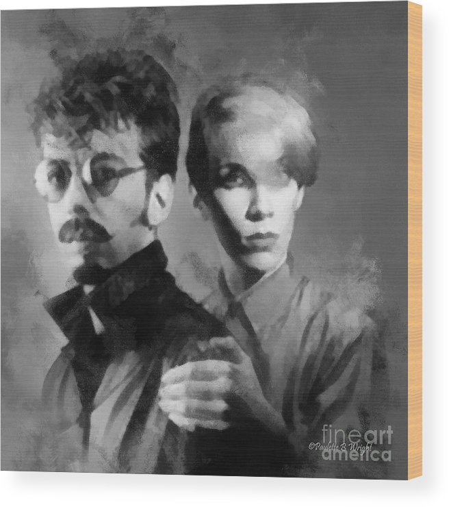 Eurythmics Wood Print featuring the photograph The Eurythmics by Paulette B Wright