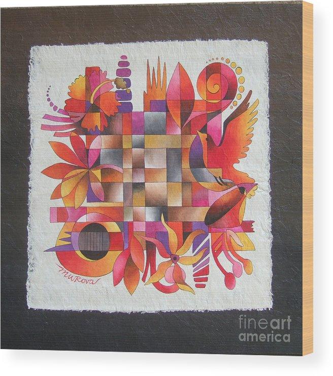 Fiji Wood Print featuring the painting The Sigidrigi Mat by Maria Rova