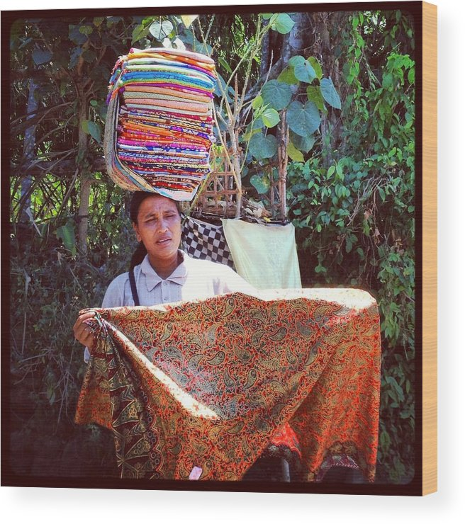 Ubud Wood Print featuring the photograph Ubud Woman by Rachel June