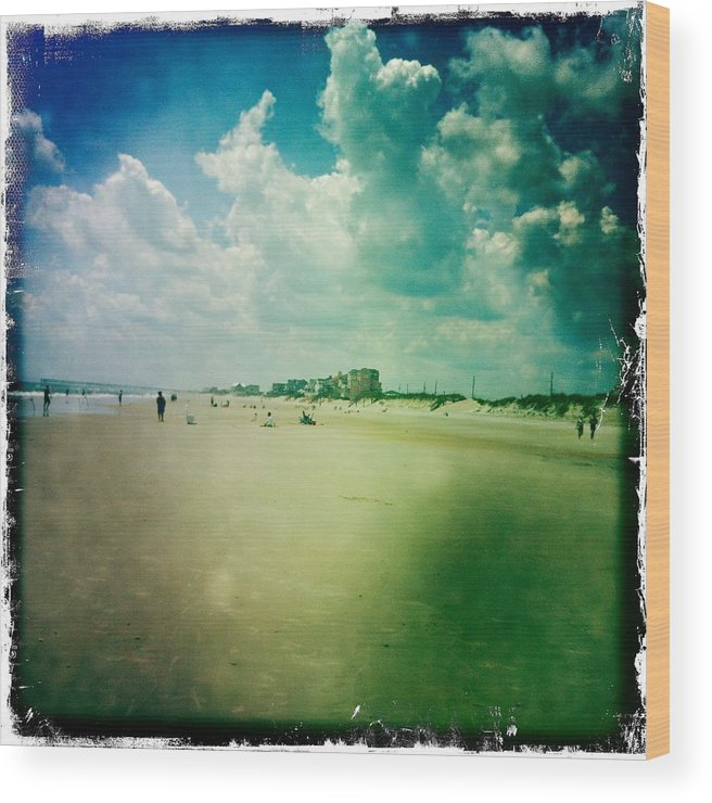 Beach Wood Print featuring the photograph Walking On The Beach by James Hose Jr