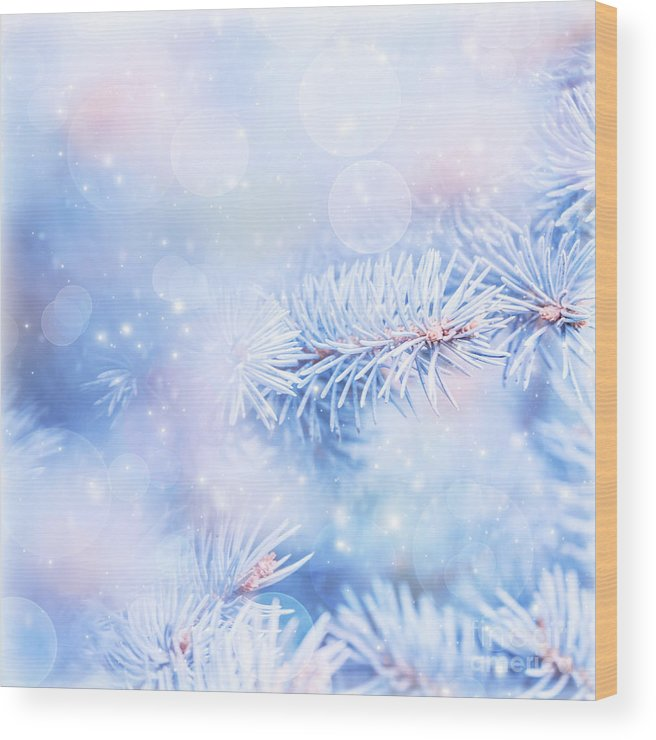 Backdrop Wood Print featuring the photograph Wintertime Background by Anna Om