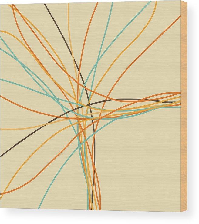 Art Wood Print featuring the photograph Graphic Line Pattern by Setsiri Silapasuwanchai