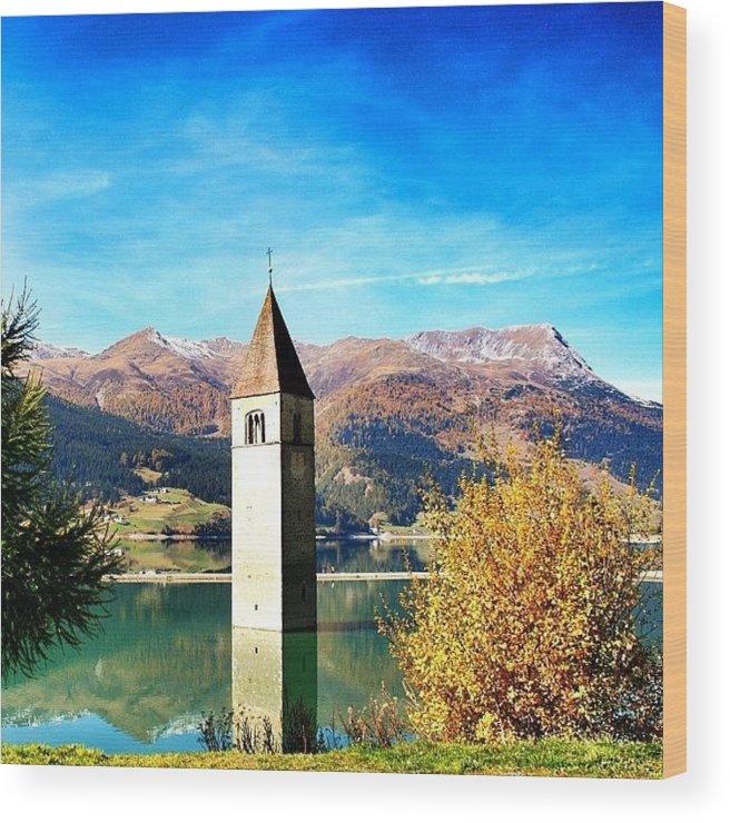 Outdoor Wood Print featuring the photograph Lago Di Resia - Alto Adige. Reshen by Luisa Azzolini