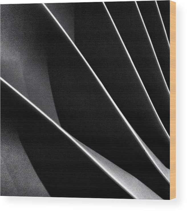 Engine Wood Print featuring the photograph #abstract #bw #bnw by Ritchie Garrod