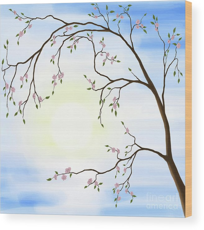 Cherry Blossom Wood Print featuring the photograph Cherry Blossom by Oleksiy Maksymenko