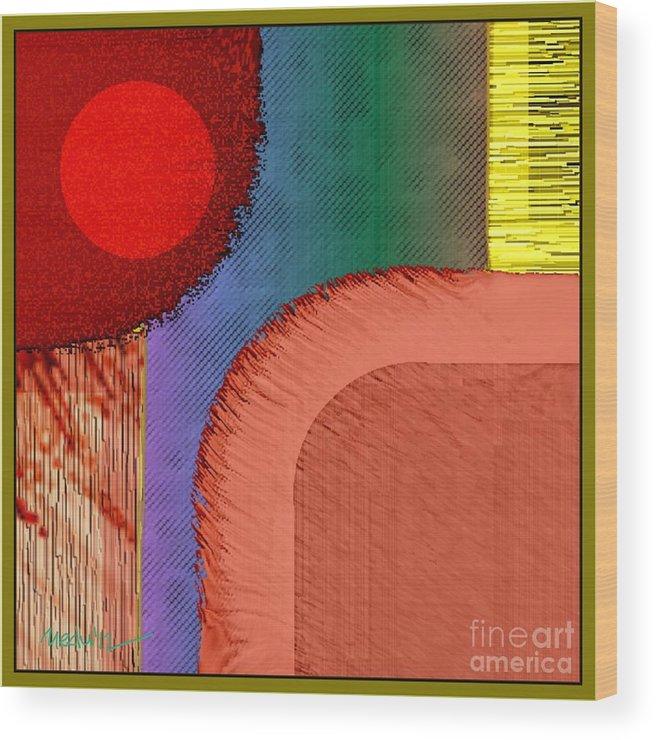 Paintings Wood Print featuring the painting Digital Design 447 by Nedunseralathan R