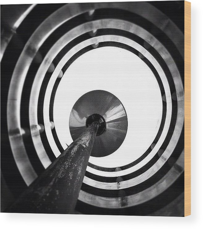 Blackandwhite Wood Print featuring the photograph Eye Balling - Concrete Jungle by Robbert Ter Weijden