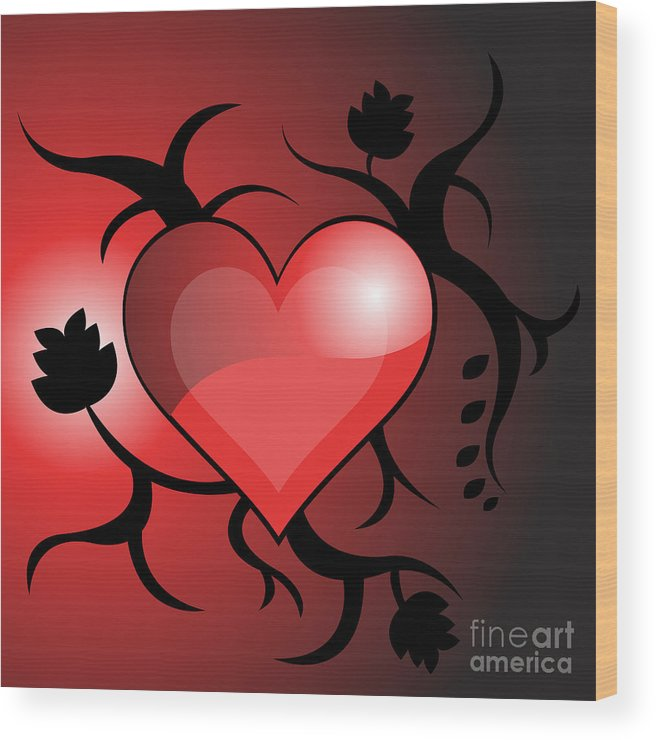 Heart Wood Print featuring the photograph Heart by HD Connelly