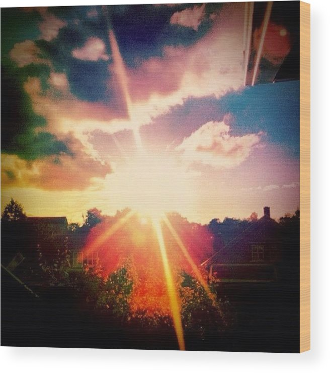 Shine Wood Print featuring the photograph Instagram Photo by Kim Nyheim