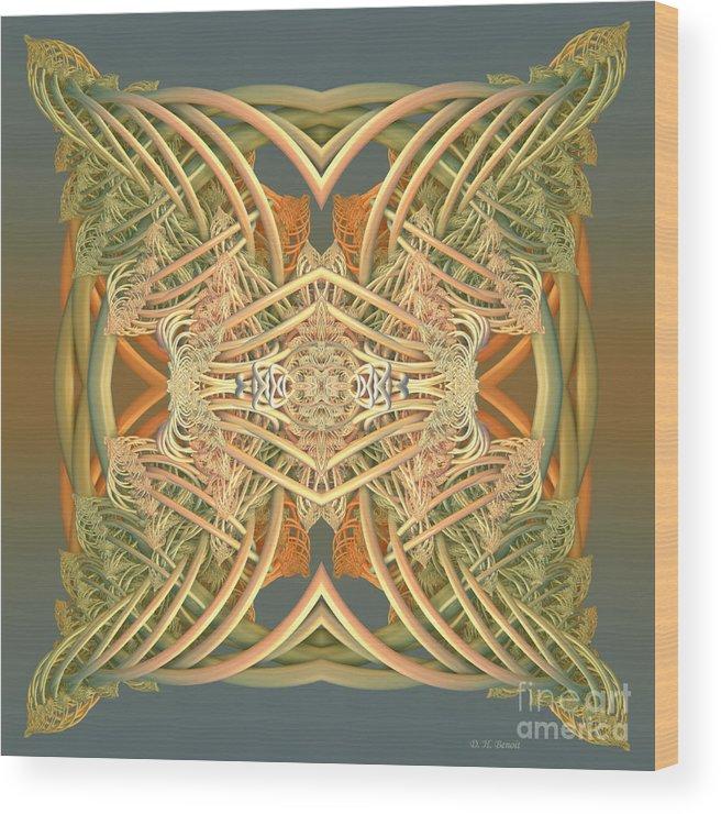 Digital Wood Print featuring the digital art Kings Pillow by Deborah Benoit