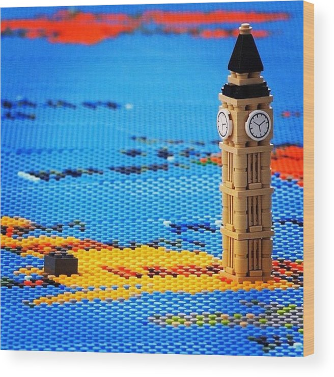Lego world map detail big ben wood print by neil andrews ldnjoyful wood print featuring the photograph lego world map detail big ben by gumiabroncs Images