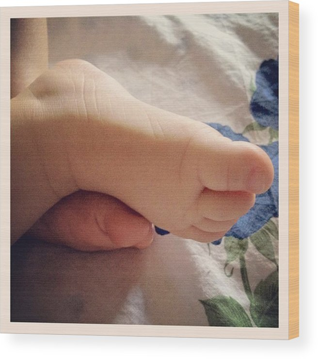 Foot Wood Print featuring the photograph Little Foot by Luisa Azzolini