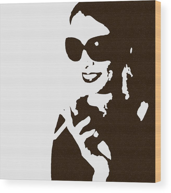 Woman Wood Print featuring the photograph Lora by Naxart Studio