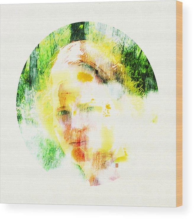 Portrait Wood Print featuring the digital art Miss. Sunshine 2 by Greta Thorsdottir