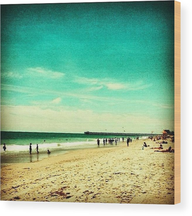 Summer Wood Print featuring the photograph Myrtle Beach by Katie Williams