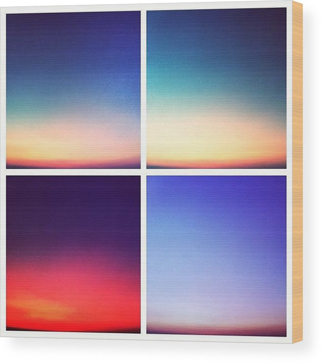 Photoshop Gradient Sunset Twilight Wood Print By Sarah Sugarman