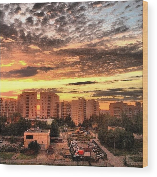 #sky Is On #fire In St Petersburg Ghetto Wood Print