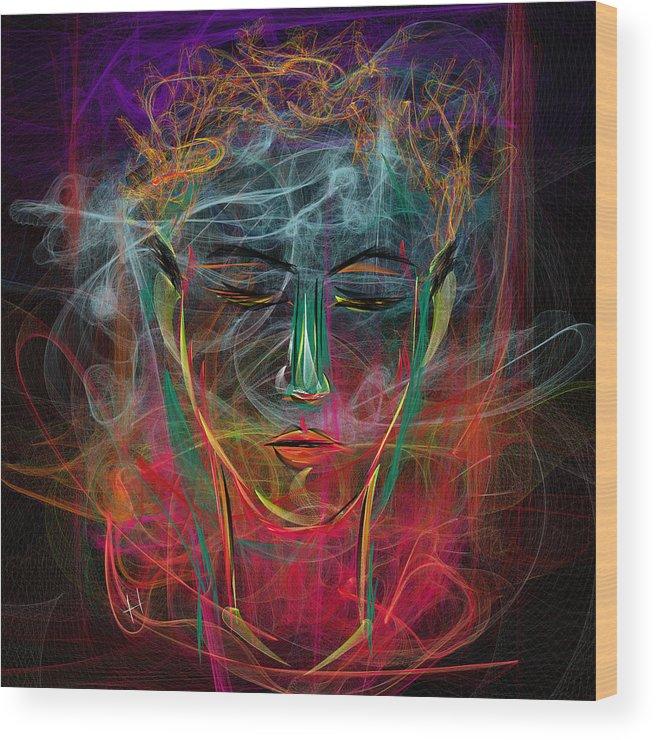 Digital Painting Wood Print featuring the digital art Vaponova by Hayrettin Karaerkek