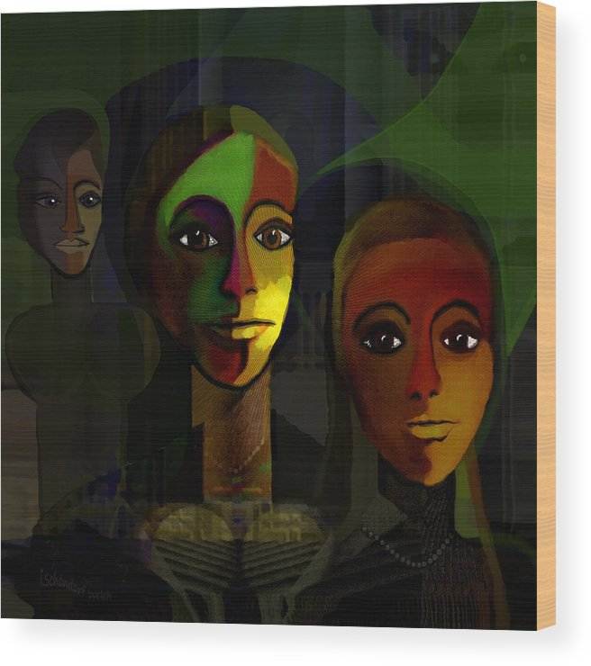 Out Of The Dark Wood Print featuring the painting 051 - Out Of The Dark by Irmgard Schoendorf Welch