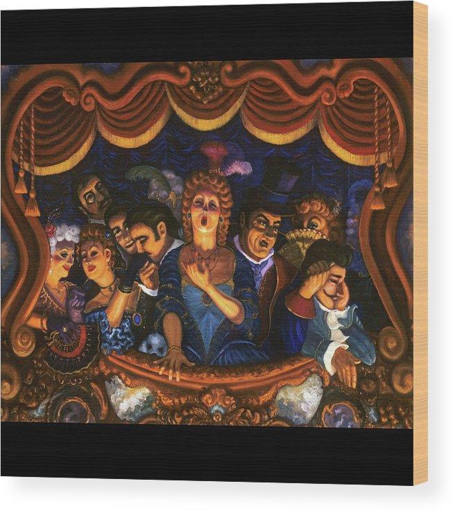 Opera Wood Print featuring the painting Night At The Paris Opera by Scott Jones