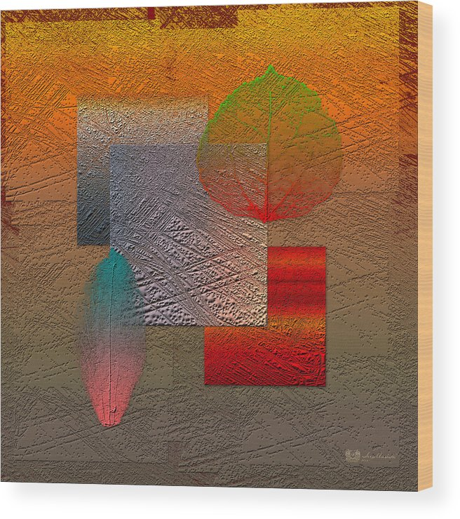 Abstracts By Serge Averbukh Wood Print featuring the photograph Quiet Sunset At The End Of Northern Summer 2 by Serge Averbukh